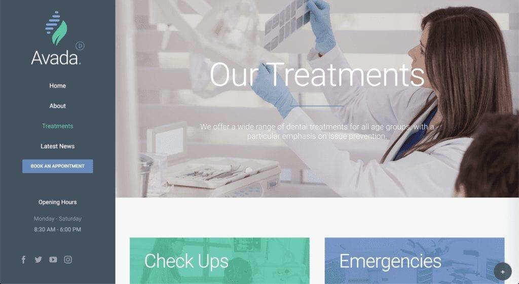 Dentist WordPress Theme Avada