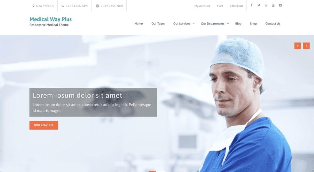 Dentist WordPress Theme - Medical Way Plus