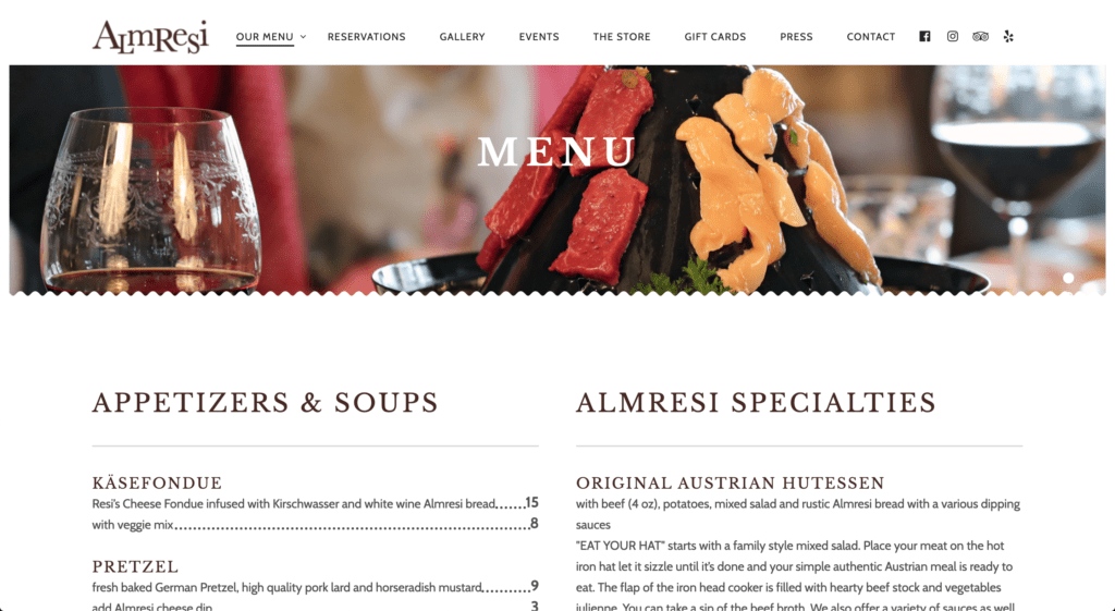 Almresi Restaurant Website Design