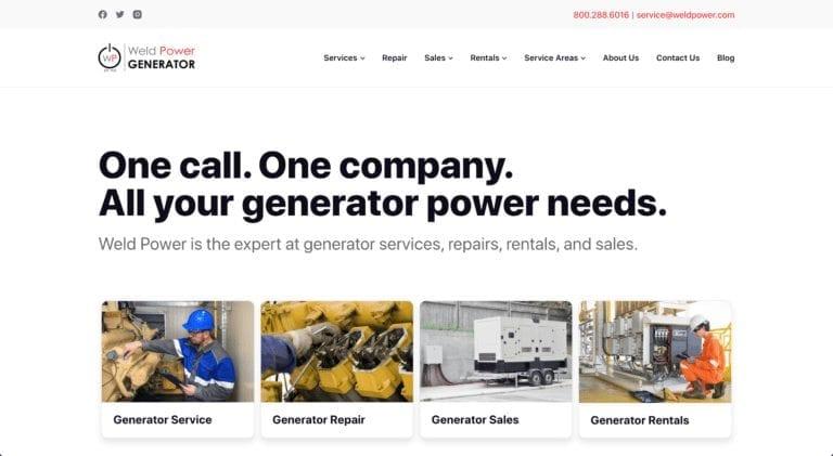 Generator Business Web Design