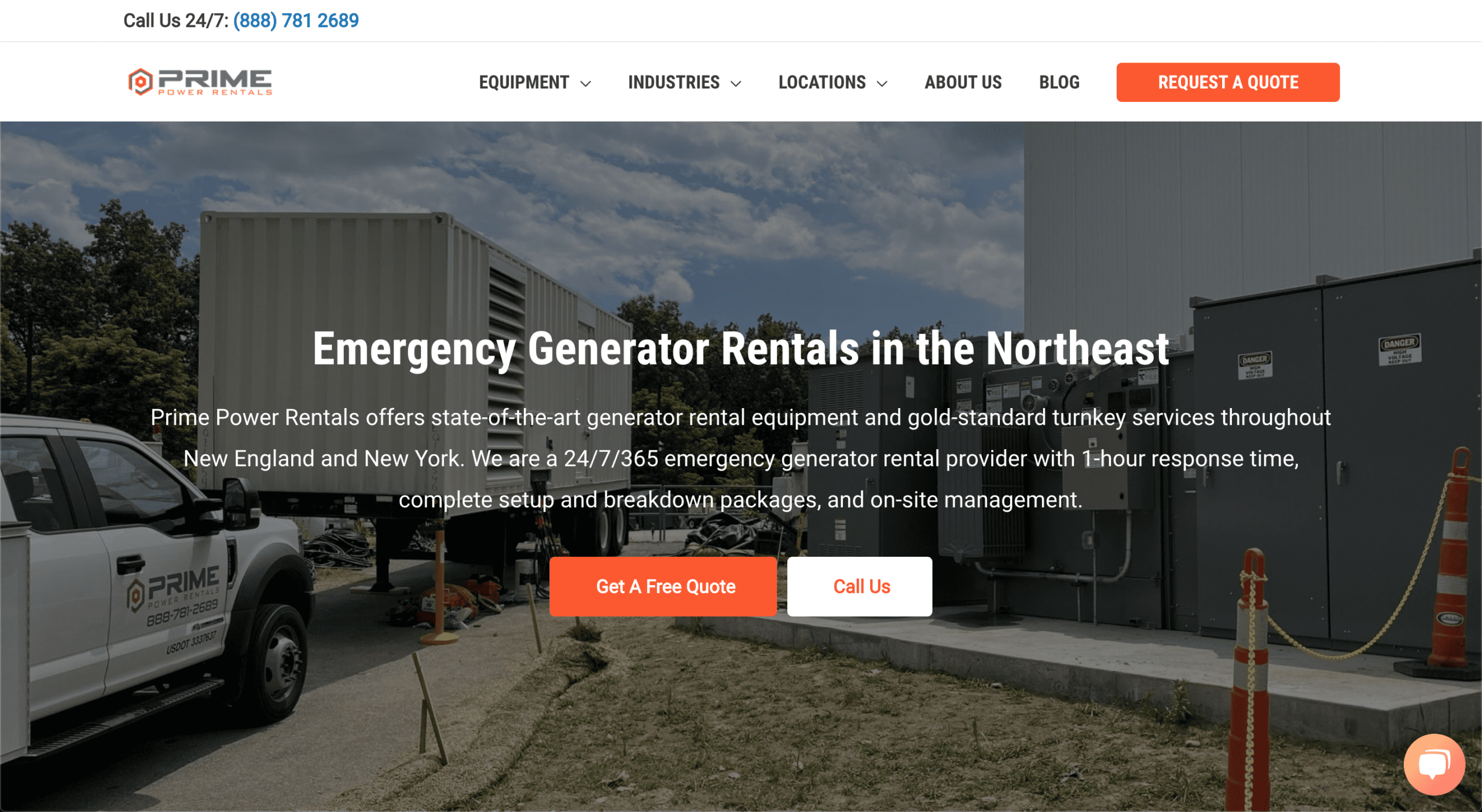 Generator Rental Website