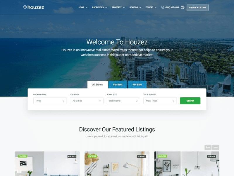 Build A Real Estate Website - Houzez WordPress Theme