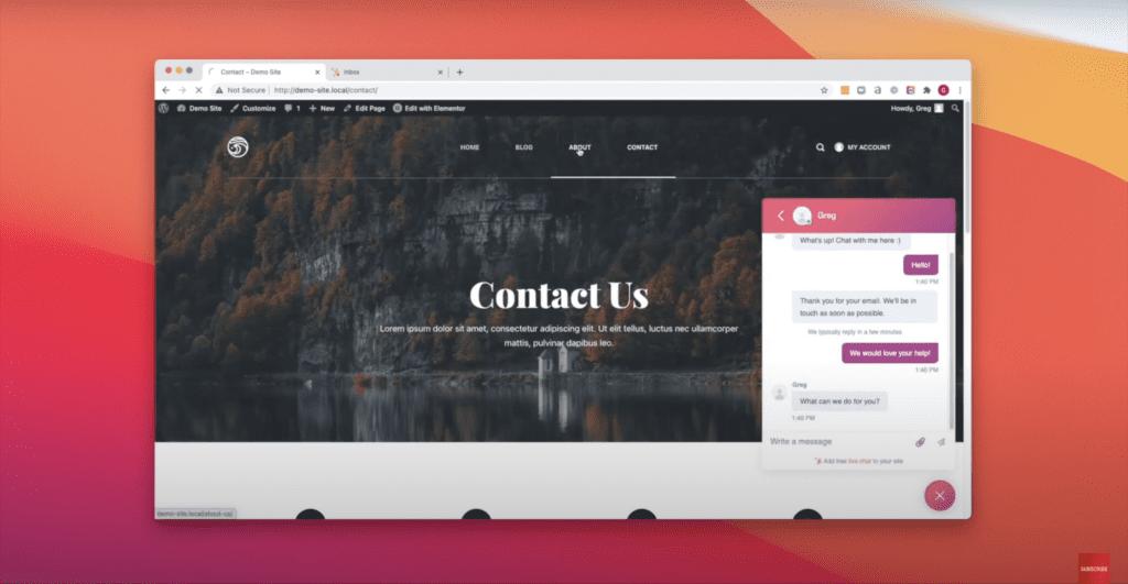 Add live chat in WordPress website